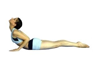Cynthia Wheir demonstrates Cobra Pose